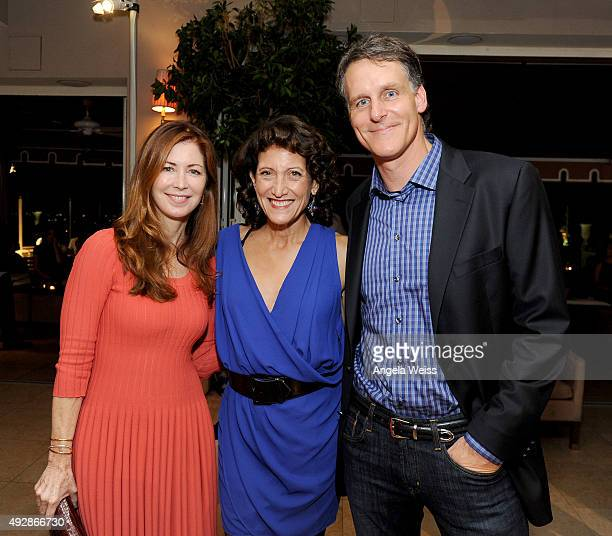 Actress Dana Delany actress Amy Aquino and Amazon Studios Senior Vice President of Business Development Jeff Blackburn attend IMDb's 25th Anniversary...
