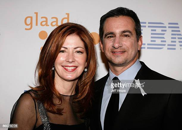 Actress Dana Delany and GLAAD President Neil Giuliano arrive at the 20th Annual GLAAD Media Awards held at NOKIA Theatre LA LIVE on April 18 2009 in...