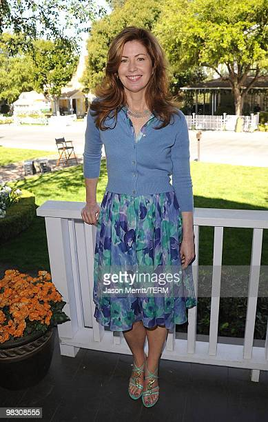 Actress Dana Delany attends the celebrity rally on ABC's Wisteria Lane to raise awareness about child hunger on April 7 2010 in Universal City...