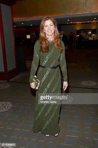 Actress Dana Delany attends the Cocktail Reception before the 2016 Writers Guild Awards at the Hyatt Regency Century Plaza on February 13 2016 in Los...