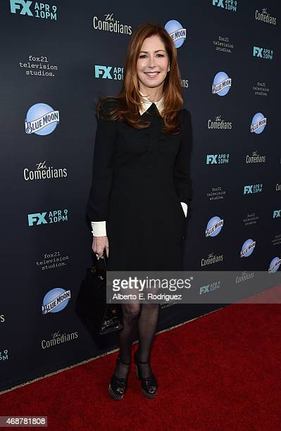 Actress Dana Delany attends the premiere of FX's The Comedians at The Broad Stage on April 6 2015 in Santa Monica California