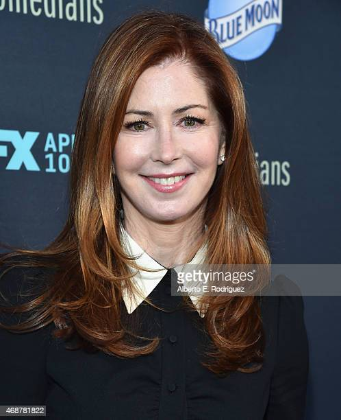 Actress Dana Delany attends the premiere of FX's 'The Comedians' at The Broad Stage on April 6 2015 in Santa Monica California