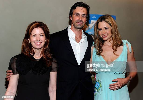 Actress Dana Delany director Brooks Branch and actress Mira Sorvino arrive at the premiere of Multiple Avenue Releasing's 'Multiple Sarcasms' on May...