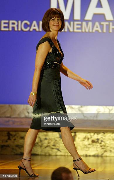 Actress Dana Delany onstage during the show at the 19th American Cinematheque Awards to honor Steve Martin at the Beverly Hilton Hotel on November 12...