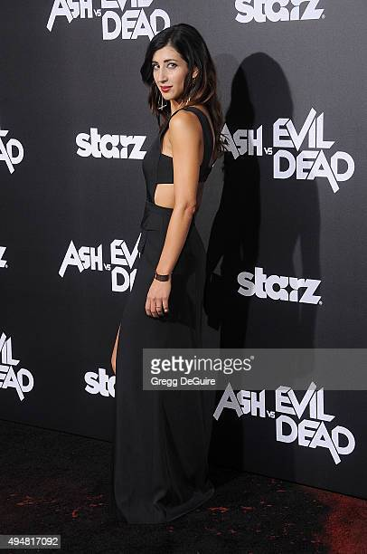 Actress Dana DeLorenzo arrives at the premiere of STARZ's Ash Vs Evil Dead at TCL Chinese Theatre on October 28 2015 in Hollywood California