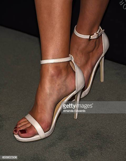 Actress Dana DeLorenzo shoe detail arrives at The Paley Center for Media's PaleyFest 2016 Fall TV Preview for STARZ at The Paley Center for Media on...