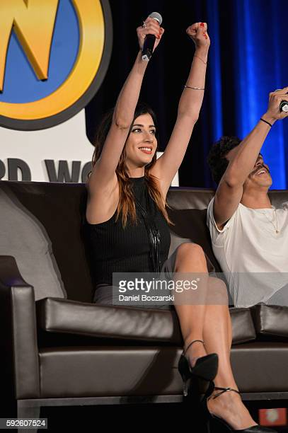 Actress Dana DeLorenzo speaks onstage during Wizard World Comic Con Chicago 2016 Day 3 at Donald E Stephens Convention Center on August 20 2016 in...