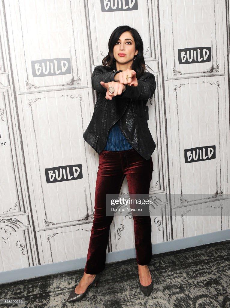 Actress Dana DeLorenzo visits Build to discuss 'Ash Vs Evil Dead' at Build Studio on October 6, 2017 in New York City.