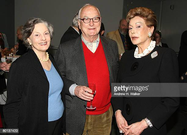 Actress Dana Ivy director James Ivory and Lady Mercia Harrison attend MoMA's Rex Harrison A Centenary Tribute on March 5 2008 in New York City