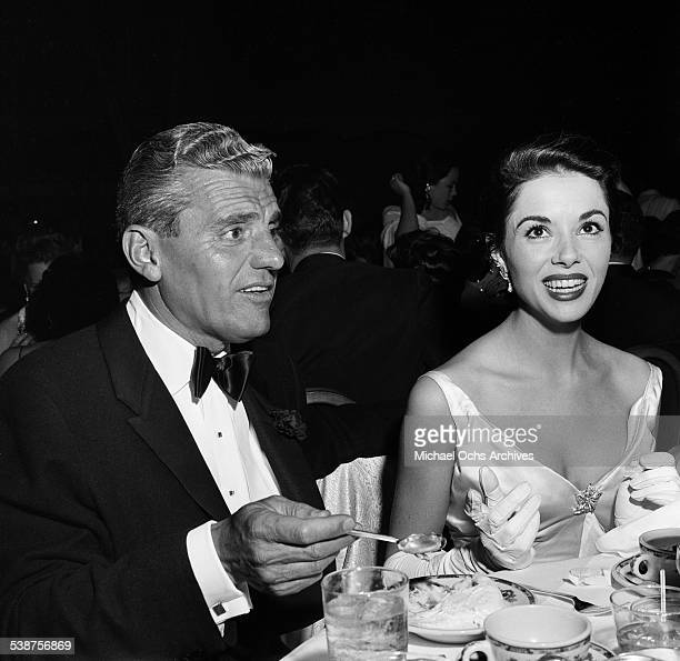 Actress Dana Wynter and husband Greg Bautzer attend the Foreign Press Awards in Los AngelesCA