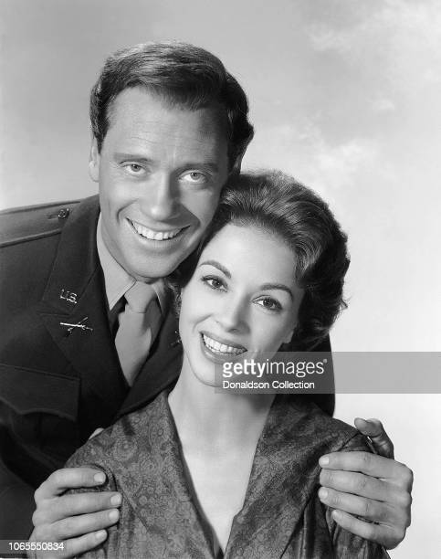 Actress Dana Wynter and Mel Ferrer in a scene from the movie Fraulein