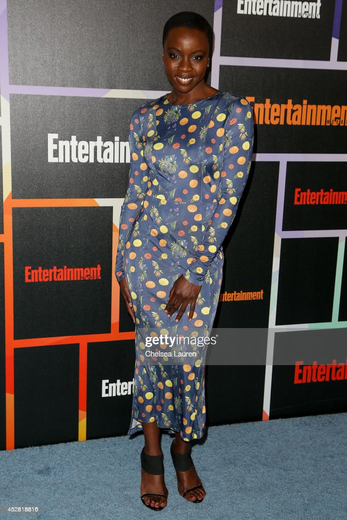 Actress Danai Gurira arrives at Entertainment Weekly's Annual Comic Con Celebration at Float at Hard Rock Hotel San Diego on July 26, 2014 in San Diego, California.