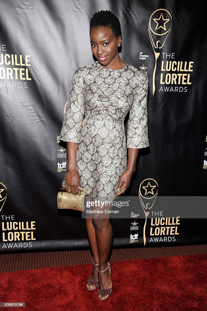 Actress Danai Gurira arrives at the 31st Annual Lucille Lortel Awards at NYU Skirball Center on May 1, 2016 in New York City.