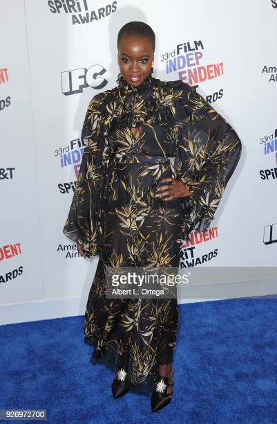 Actress Danai Gurira arrives for the 2018 Film Independent Spirit Awards on March 3 2018 in Santa Monica California