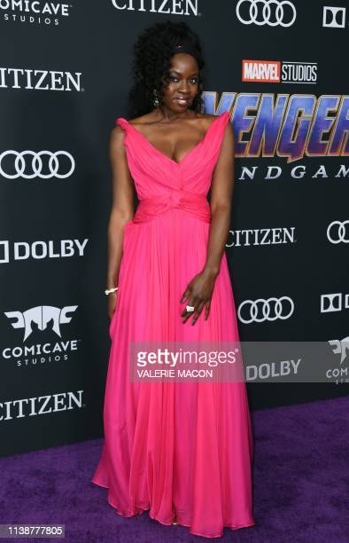 US actress Danai Gurira arrives for the World premiere of Marvel Studios' Avengers Endgame at the Los Angeles Convention Center on April 22 2019 in...