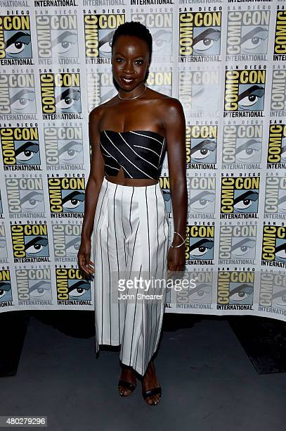 Actress Danai Gurira attends AMC's 'The Walking Dead' at ComicCon 2015 on July 10 2015 in San Diego California