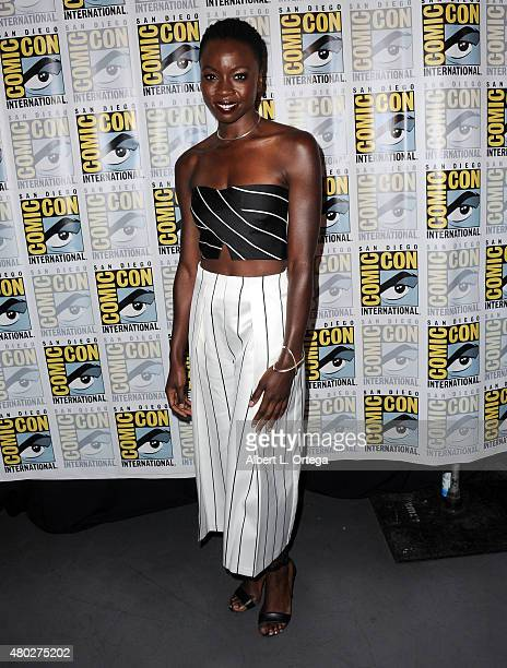 Actress Danai Gurira attends AMC's 'The Walking Dead' panel during ComicCon International 2015 at the San Diego Convention Center on July 10 2015 in...