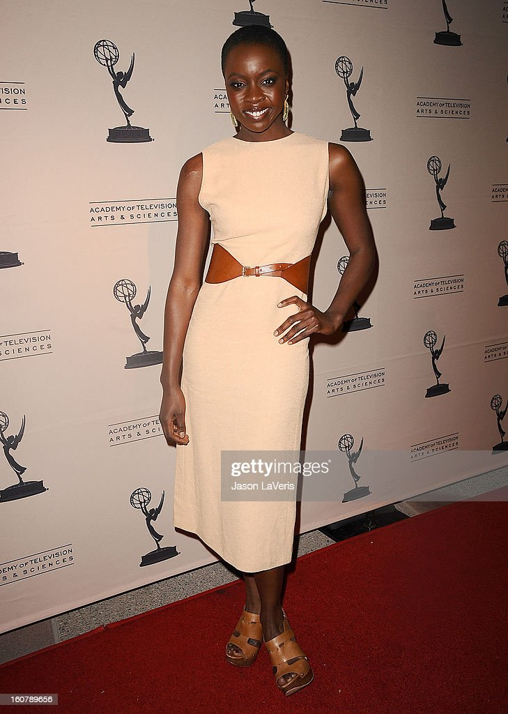 Actress Danai Gurira attends an evening with 'The Walking Dead' at Leonard H. Goldenson Theatre on February 5, 2013 in North Hollywood, California.