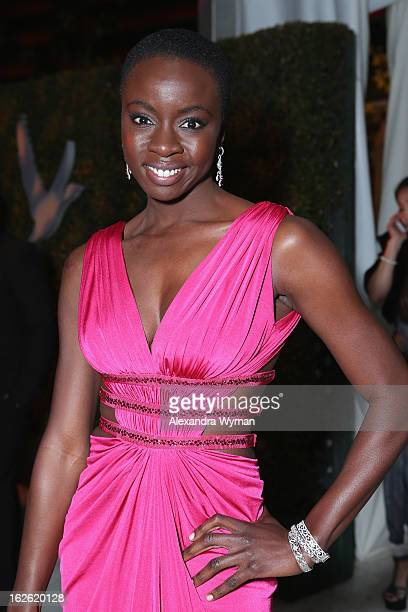 Actress Danai Gurira attends Grey Goose at 21st Annual Elton John AIDS Foundation Academy Awards Viewing Party at West Hollywood Park on February 24...