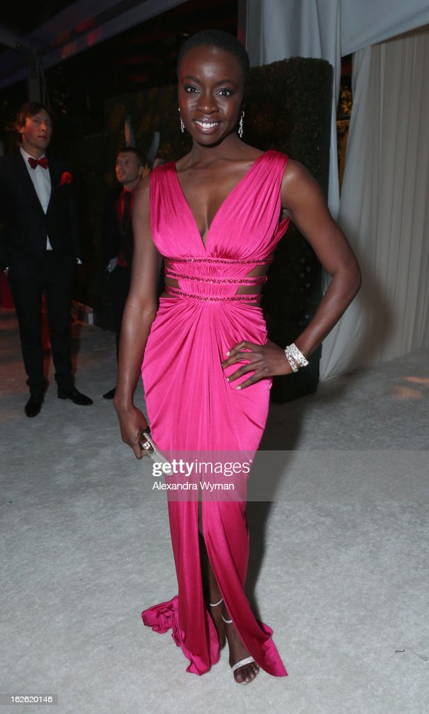 Actress Danai Gurira attends Grey Goose at 21st Annual Elton John AIDS Foundation Academy Awards Viewing Party at West Hollywood Park on February 24, 2013 in West Hollywood, California.