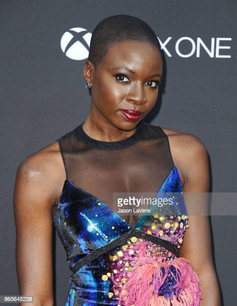 Actress Danai Gurira attends the 100th episode celebration off 'The Walking Dead' at The Greek Theatre on October 22 2017 in Los Angeles California