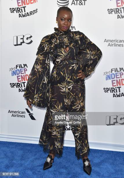 Actress Danai Gurira attends the 2018 Film Independent Spirit Awards on March 3 2018 in Santa Monica California