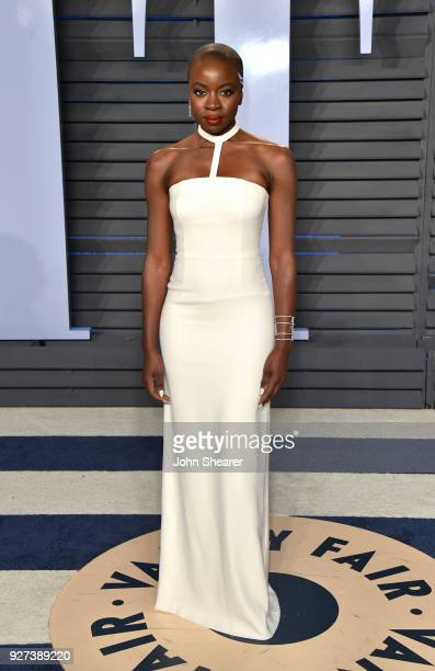 Actress Danai Gurira attends the 2018 Vanity Fair Oscar Party hosted by Radhika Jones at Wallis Annenberg Center for the Performing Arts on March 4...