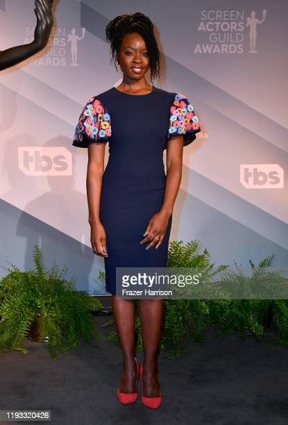 Actress Danai Gurira attends the 26th Annual Screen Actors Guild Awards Nominations Announcement at Pacific Design Center on December 11 2019 in West...