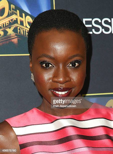 Actress Danai Gurira attends the Essence 'A Toast To Primetime' event at Herringbone Mondrian LA on October 2 2014 in Beverly Hills California