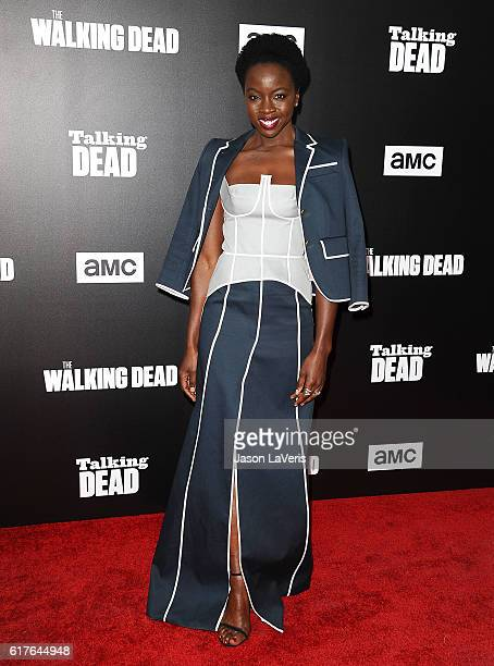 Actress Danai Gurira attends the live 90minute special edition of 'Talking Dead' at Hollywood Forever on October 23 2016 in Hollywood California