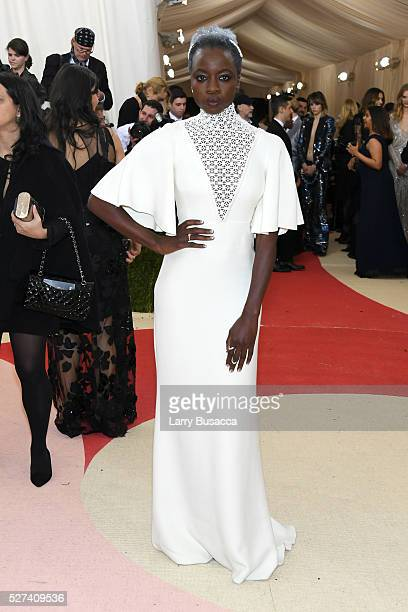 Actress Danai Gurira attends the 'Manus x Machina Fashion In An Age Of Technology' Costume Institute Gala at Metropolitan Museum of Art on May 2 2016...