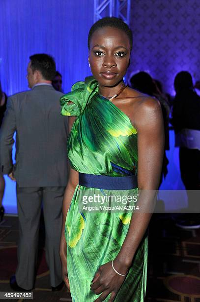 Actress Danai Gurira attends the official 2014 American Music Awards after party at the at Nokia Theatre LA Live on November 23 2014 in Los Angeles...