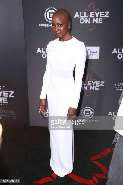 Actress Danai Gurira attends the premiere of Lionsgate's 'All Eyez On Me' at the Westwood Village Theatres on June 14 2017 in Los Angeles California