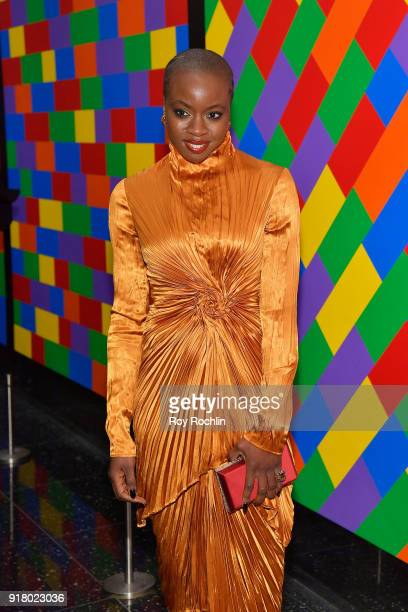 Actress Danai Gurira attends the screening of Marvel Studios' 'Black Panther' hosted by The Cinema Society on February 13 2018 in New York City