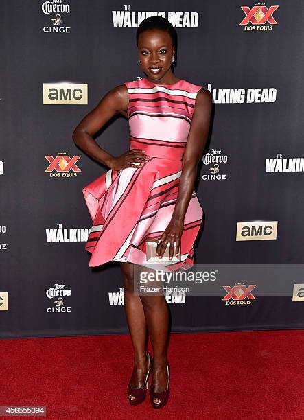 Actress Danai Gurira attends the season 5 premiere of The Walking Dead at AMC Universal City Walk on October 2 2014 in Universal City California