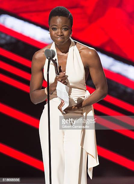 Actress Danai Gurira BET Black Girls Rock 2016 at New Jersey Performing Arts Center on April 1 2016 in Newark New Jersey