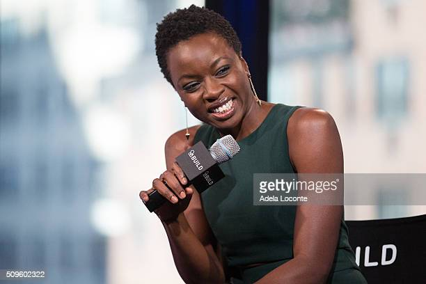 Actress Danai Gurira discusses 'The Walking Dead' at AOL Studios In New York on February 11 2016 in New York City