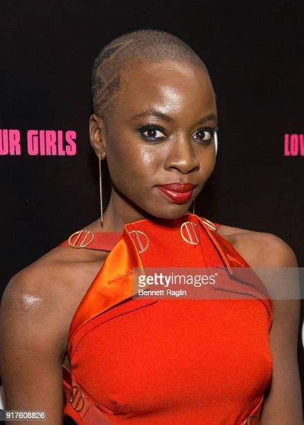 Actress Danai Gurira poses for a picture during the Danai x One x Love Our Girls celebration at The Top of The Standard on February 12 2018 in New...