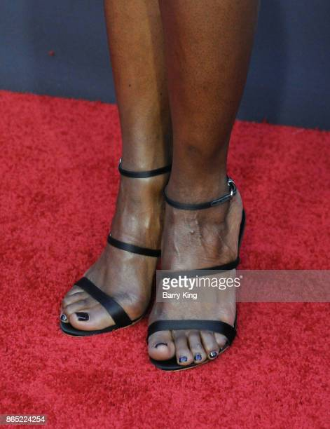 Actress Danai Gurira shoe detail attends AMC Celebrates The 100th Episode of 'The Walking Dead' at The Greek Theatre on October 22 2017 in Los...