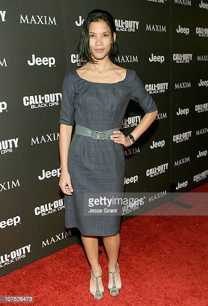 Actress Danay Garcia attends the Jeep MAXIM and Call of Duty Black Ops Celebration of The 2010 Maximum Warrior at SupperClub Los Angeles on December...