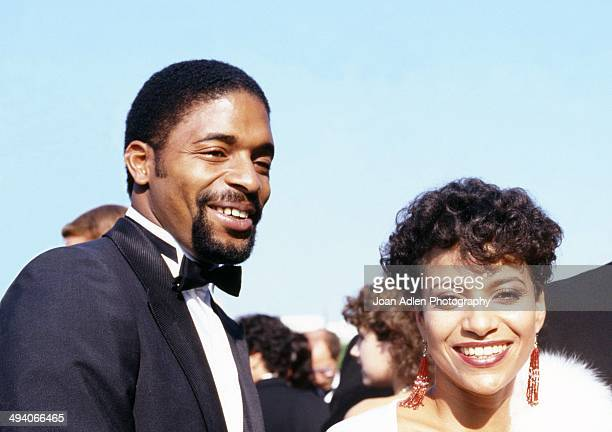 Actress dancer and choreographer Debbie Allen with husband NBA AllStar Norm Nixon attend the 35th Annual Primetime Emmy Awards held at the Pasadena...
