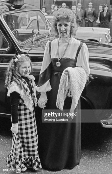 Actress, dancer and singer Bonnie Langford with her mother Babette, UK, 15th May 1973.