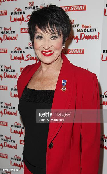 Actress dancer and singer Chita Rivera attends the 20 Year Anniversary of 'Art Start' benefit concert at the Town Hall on October 13 2011 in New York...