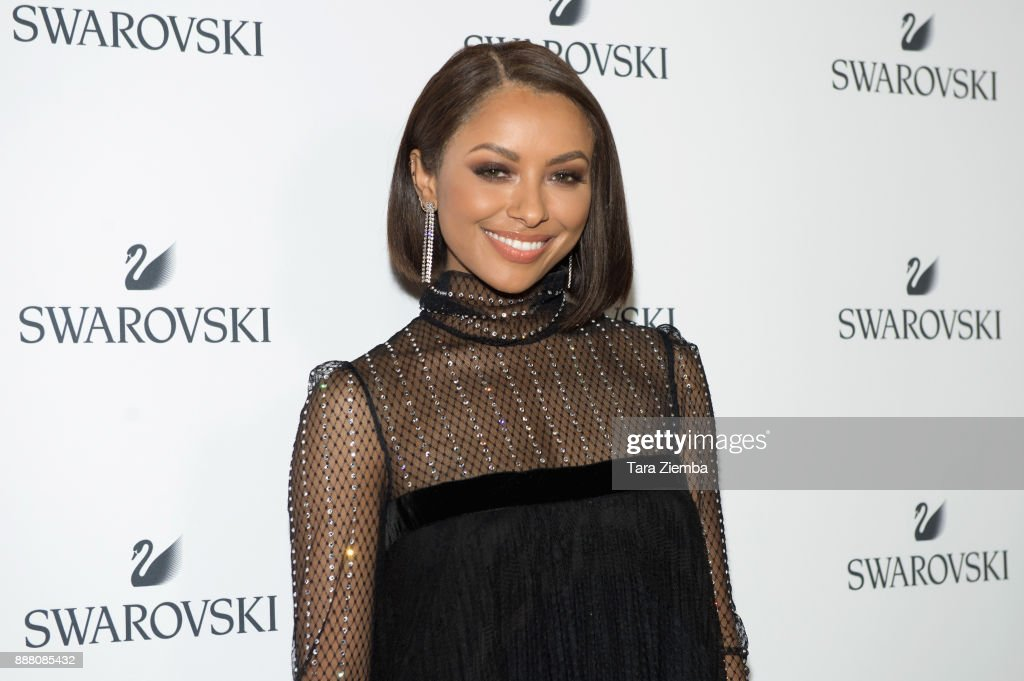 Actress, dancer and singer Kat Graham attends Swarovski's Holiday Celebration at The Grove at Swarovski on December 7, 2017 in Los Angeles, California.