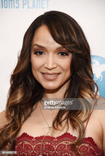 Actress dancer and singer Mayte Garcia arrives at The Single Mom's Awards presented by Single Moms Planet at The Peninsula Beverly Hills on May 4...