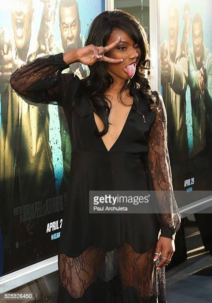 Actress / Dancer Tiffany Haddish attends the premiere of 'Keanu' at ArcLight Cinemas Cinerama Dome on April 27 2016 in Hollywood California