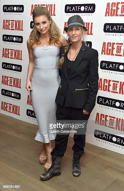 Actress Dani Dyer and Jo Mas attend a private screening of Age Of Kill at Ham Yard Hotel on April 1 2015 in London England