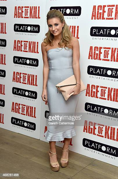 Actress Dani Dyer attends a private screening of Age Of Kill at Ham Yard Hotel on April 1 2015 in London England