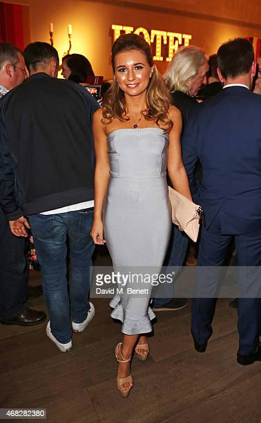 Actress Dani Dyer attends a private screening of Age Of Kill at The Ham Yard Hotel on April 1 2015 in London England