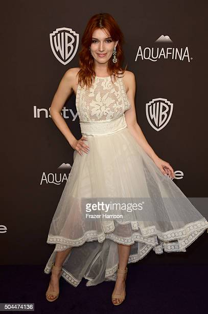 Actress Dani Thorne attends InStyle and Warner Bros 73rd Annual Golden Globe Awards PostParty at The Beverly Hilton Hotel on January 10 2016 in...